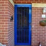 Blue Decorative Security Doors